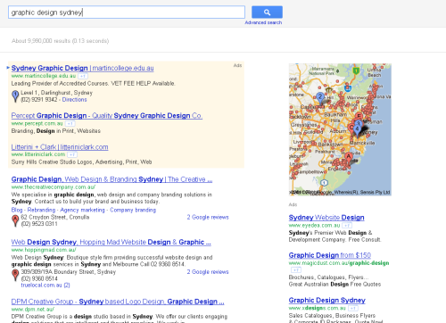 Google Serps Layout 1