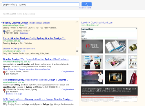 Google Serps Layout 2